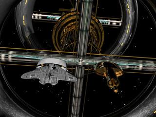 Raumschiff im Weltall