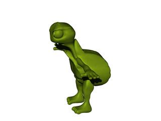 Grüne Cartoon Schildkröte