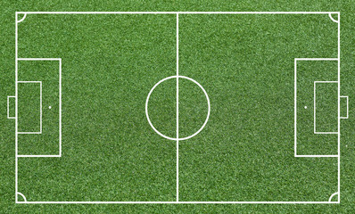 Grass of a soccer field. Football field or soccer field background. Green court for create game.