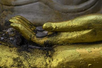Image Buddha's hand close up.