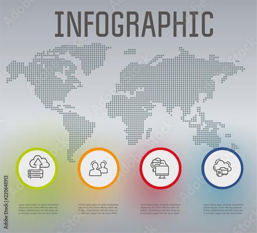 infographics saving data infographics of data storage cloud