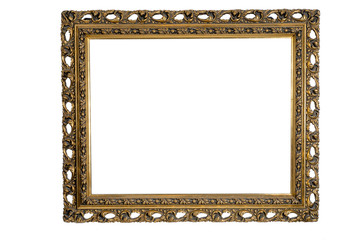 wooden old frames for decoration painting isolated on white background