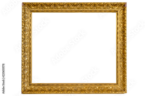 wooden old frames for decoration painting isolated on white ...
