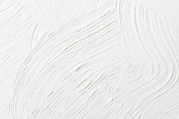 Textured white plaster on the wall. Background image, texture. Wall mural