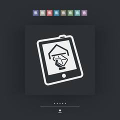 Tablet mail icon