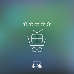 Shopping rating icon