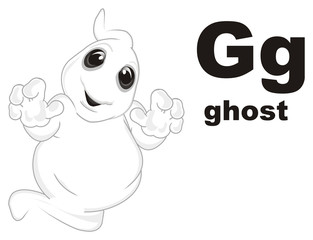ghost, spirit, holiday, symbol, halloween, flying,  trick or treat, kind, cute, smile, happy, funny, cartoon, illustration, abc