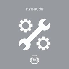 Device settings flat icon