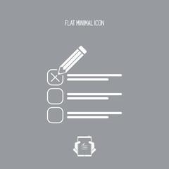 Check option - Minimal vector icon