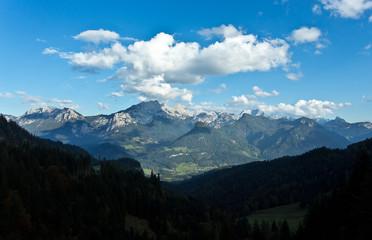 Blick von der Loferer Alm auf die Reiter Alm - Reither Steinberge