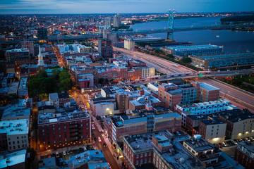Spoed Fotobehang Bruin Aerial of Philadelphia