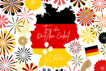 concept image of celebrating Germany unity day
