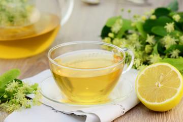 Tee , Lindenblüten