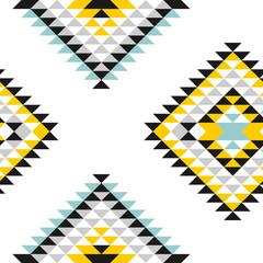 Fototapeta aztec pattern pane light triangle repeatable obraz