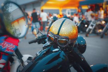 Casco da Moto Biker Con Specchietto