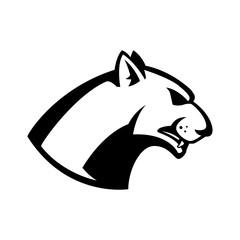 puma head sign. Design element for sport team logo, emblem, badge, mascot.