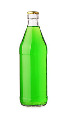 Bottle with tasty green drink