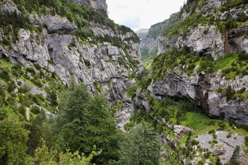 Anisclo canyon in Ordesa national park, Spain