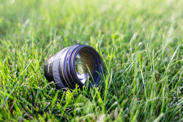 Lens on the grass