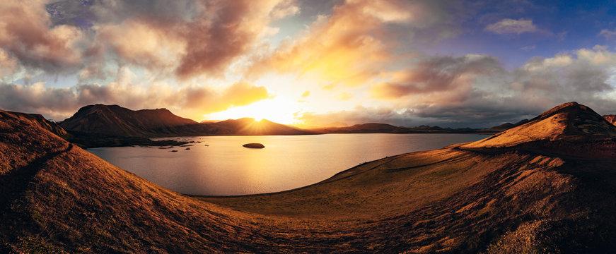 frostastaðavatn lake in Landmannaulaugar