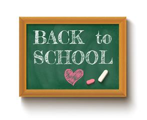 Back to school on the chalkboard.