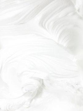 white cream closeup as background