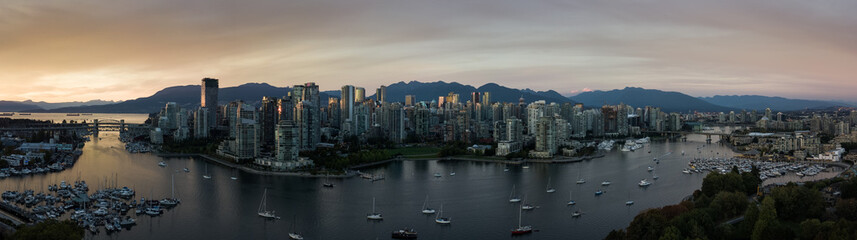 Vancouver Panorama at Sunset -2