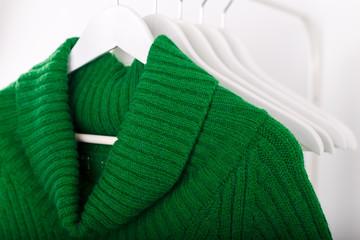Wall Mural - Warm knitted autumn winter dress
