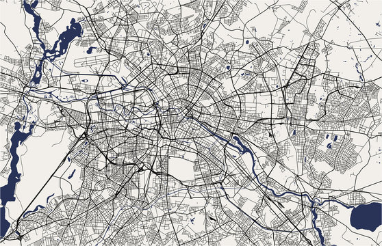 map of the city of Berlin, Germany