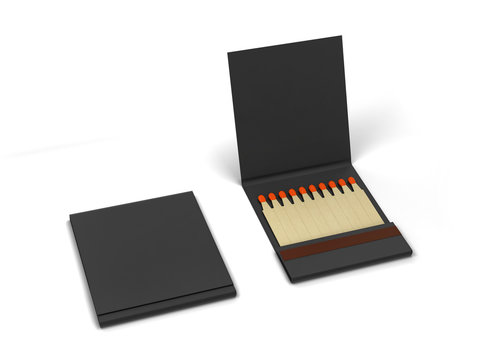 Paper book of matches mockup