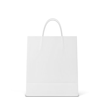 Blank shopping bag mockup