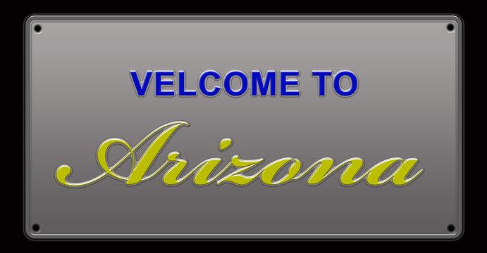 Arizona License Plate illustration