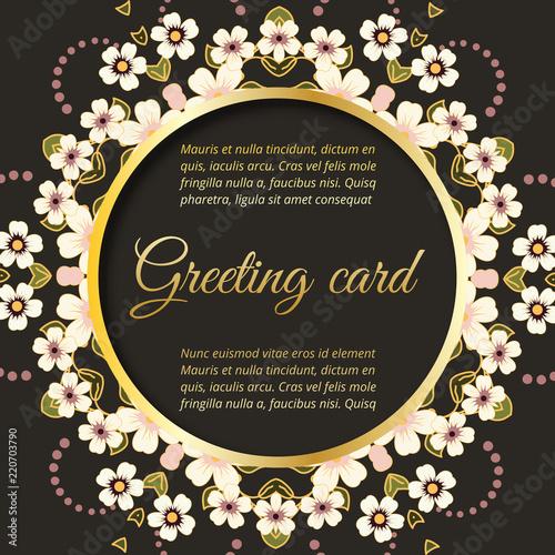 Set. Save the date, floral wedding felicitation elegant invite.