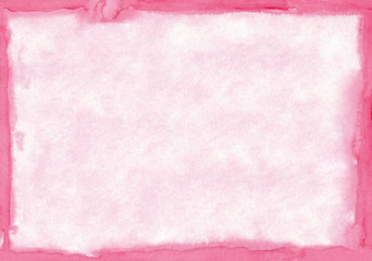 Rectangular regularly shaped light pink watercolour background. Beautiful abstract canvas for congratulations, valentines designs, invitation cards,  engagements, postcards, text and etc.