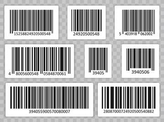 Wall Mural - Bar Code Set Vector. Universal Product Scan Code.