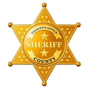 Sheriff Star Badge, 3D rendering