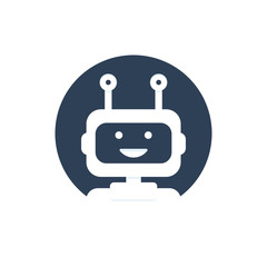 Chat bot icon background. Virtual assistant for website. Chat bot concept for customer service. Vector
