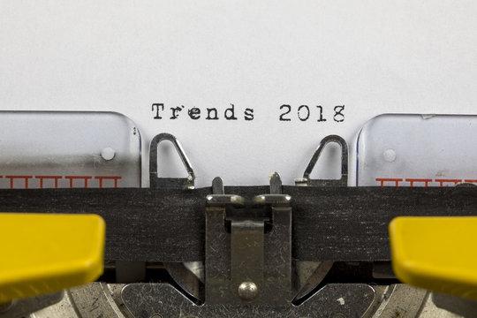 Typewriter Trends 2018