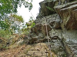 Via ferrata steps in Bechyne
