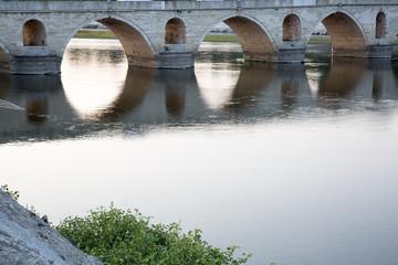 The Meric Bridge on Meric River in Edirne