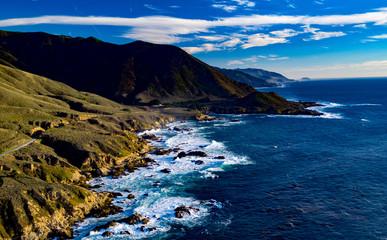Carmel Coast Pacific Coast Highway Northern California – Beautiful photo of scenic route along California Pacific Coast Highway Coast with 4k drone photo