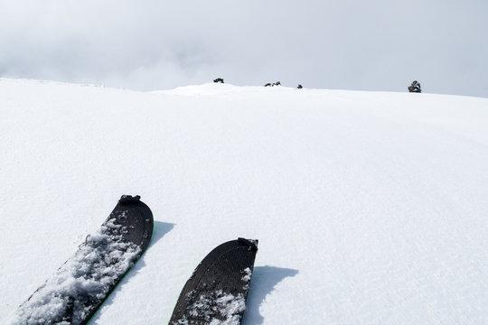 winter in the mountains - splitboarding in norway