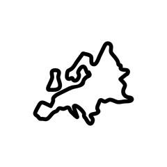 europe icon vector