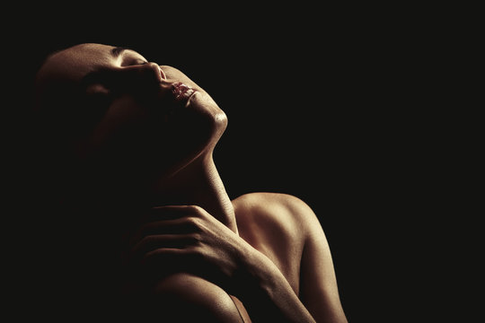 sensual aroused woman