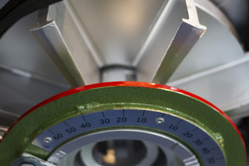 Cross Section of Shot blasting machine