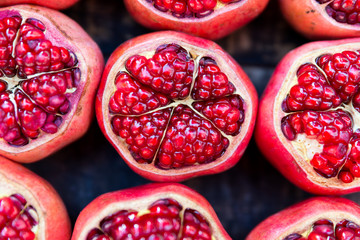 Pomegranates at Carmel Market in Tel Aviv
