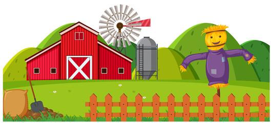 A rural farmland landscape