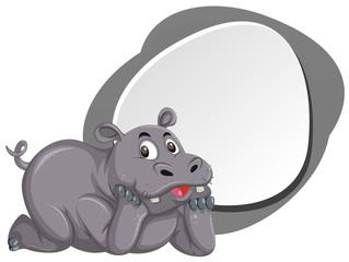 A cute hippopotamus banner