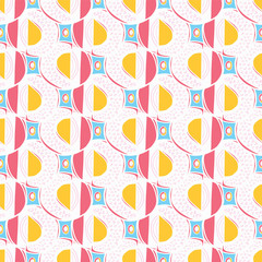 Memphis Style Dot Circles Seamless Vector Pattern, Sketchy Drawn Doodles Graphic Illustration for Trendy Fashion Prints, Modern Stationery, Retro Graphic Decor, Gift Wrap, Blog Backgrounds, Wallpaper