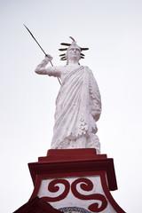 sculpture of the town hall in Cuetzalan Del Progreso Puebla